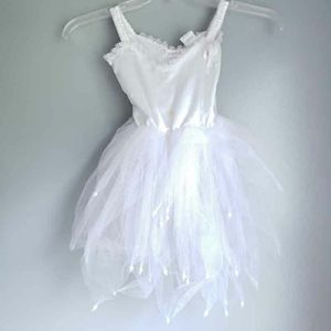 NEW Boutique Tutu White Girls 2-4 Tulle Pearls